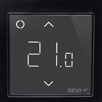DEVIreg Smart Wi-Fi Czarny -Inteligentny elektroniczny termostat z zegarem, Wi-Fi i sterowaniem z aplikacji DEVIsmart App. 5 lat gwarancji.